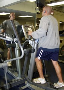 old man doing workout