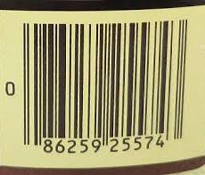 barcode of a product